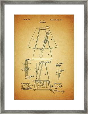 Metronome Patent Framed Print