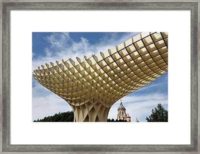 Metropol Parasol At The Plaza Of The Incarnation In Seville Spai Framed Print by Reimar Gaertner