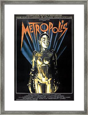 Metropolis, 1927 Poster For 1984 Framed Print by Everett