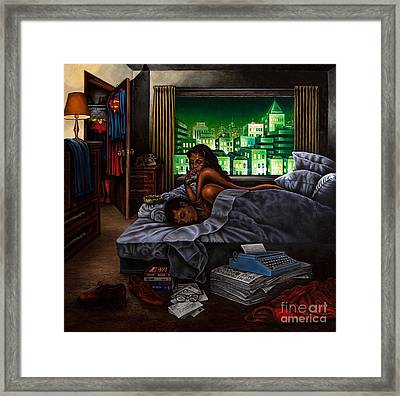 Framed Print featuring the painting Metropolis by Michael Frank