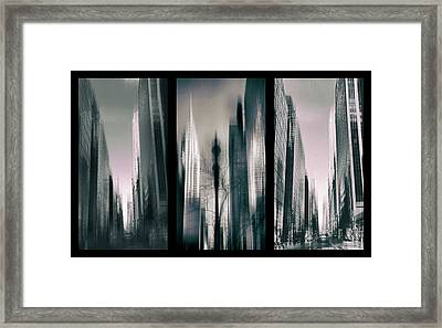 Metropolis Triptych 3 Framed Print