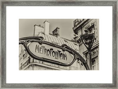Metropolitain Framed Print