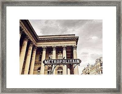 Metropolitain - Paris Framed Print by Melanie Alexandra Price