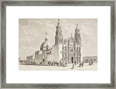 Metropolitan Cathedral In Plaza De Framed Print by Vintage Design Pics