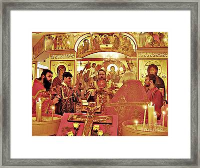 Metropolitan Jonah At St Mary Magdalen Church Framed Print