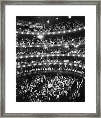 Metropolitan Opera House Framed Print by Underwood Archives