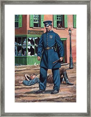 Metropolitan Police Officer 1863 Framed Print by Mark Maritato
