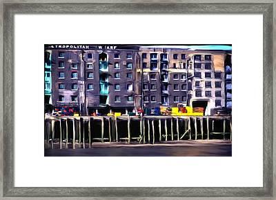 Metropolitan Wharf Framed Print