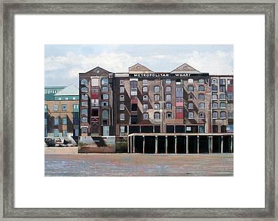 Metropolitan Wharf Framed Print by Peter Wilson