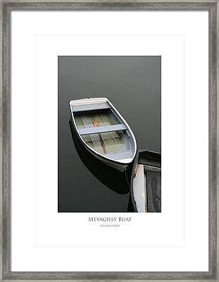 Framed Print featuring the digital art Mevagissy Boat by Julian Perry