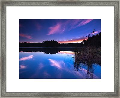 Mew Lake Sunset Framed Print by Cale Best