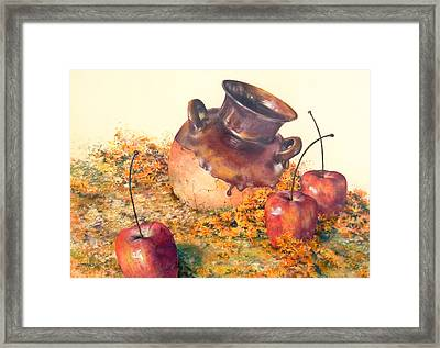 Mexican Apples 2 Framed Print by DEVARAJ DanielFranco