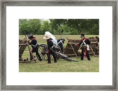 Mexican Artillery Performers At The Annual Battle Of San Jacinto Festival And Battle Reenactment Framed Print
