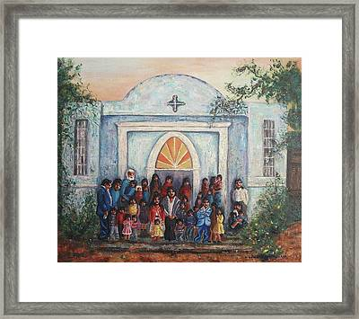Mexican Church Framed Print by Suzanne  Marie Leclair