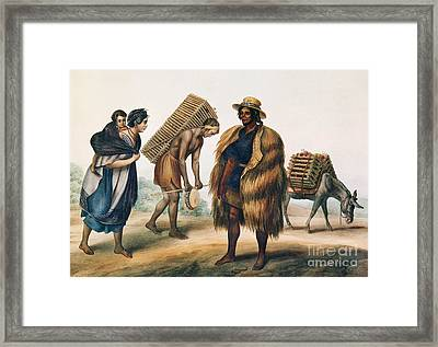 Mexican Farmers Framed Print by Granger