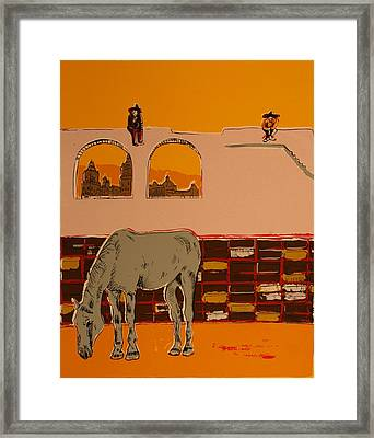Mexican Landscape Framed Print by Biagio Civale
