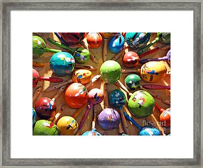 Mexican Maracas Framed Print by Methune Hively