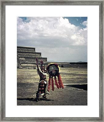 Mexican Mesoamerican Dancer Vintage Framed Print