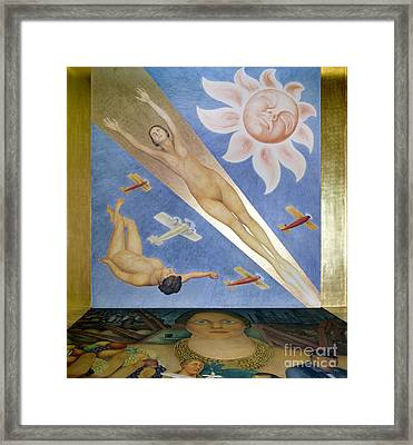 Mexican Mural Painting Framed Print by Granger
