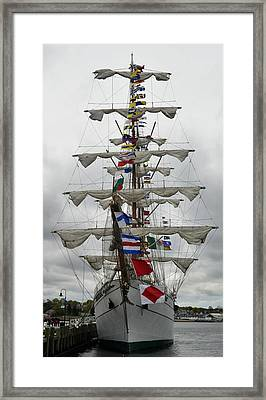 Mexican Navy Ship Framed Print