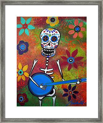 Mexican Playing Banjo Framed Print