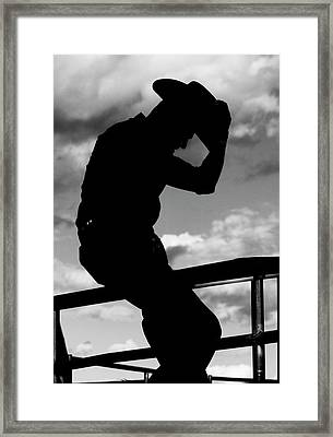 Mexican Rodeo Rider Framed Print by Jean Noren