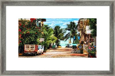 Mexican Side Street Framed Print
