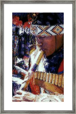 Framed Print featuring the photograph Mexican Street Musician by Lori Seaman