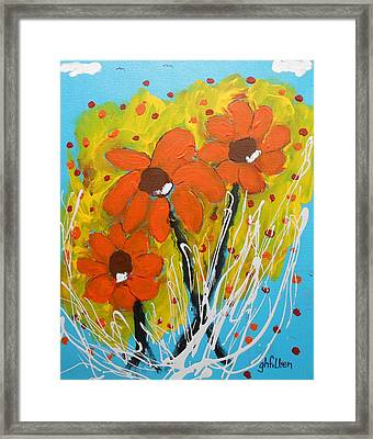 Mexican Sunflowers Flower Garden Framed Print