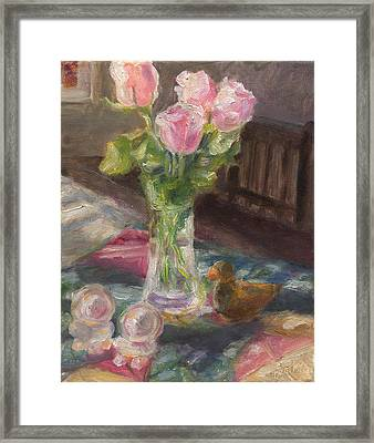 Mexican Table Framed Print by Rita Bentley
