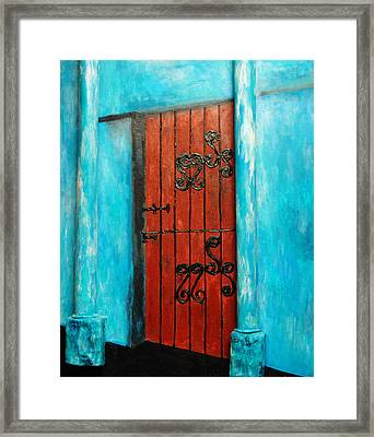 Mexican Turquoise Framed Print