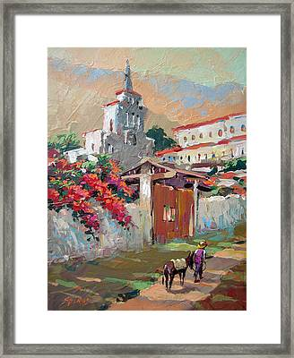 Mexican Village 1 Framed Print by Dmitry Spiros