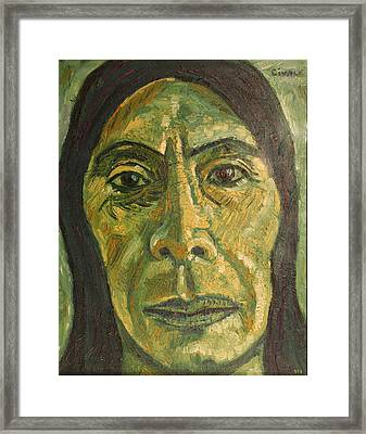 Mexican Woman Framed Print by Biagio Civale