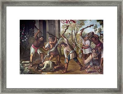Mexico: Christian Martyrs Framed Print