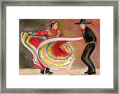 Mexico City Ballet Folklorico Framed Print by Frank Hunter