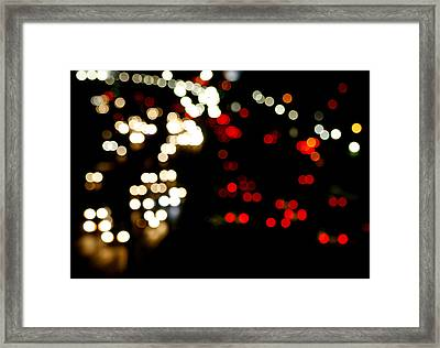 Mexico City De Noche Framed Print by Carmen Sandoval