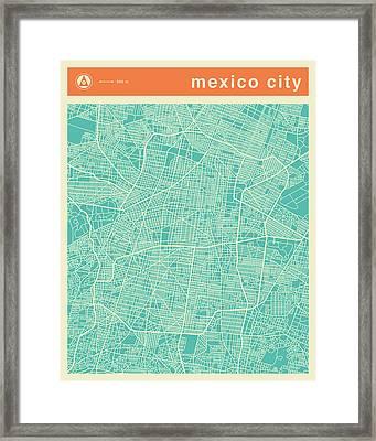 Mexico City Street Map Framed Print