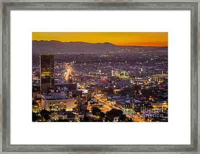 Mexico City Sunset Framed Print by Inge Johnsson