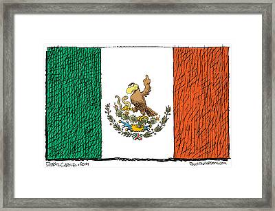Mexico Flips Bird Framed Print