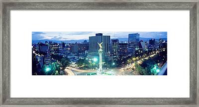 Mexico, Mexico City, El Angel Monument Framed Print