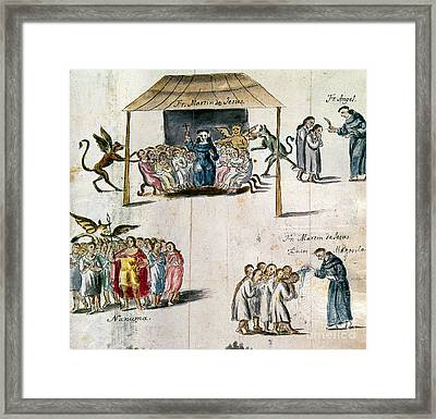 Mexico: Missionaries Framed Print by Granger