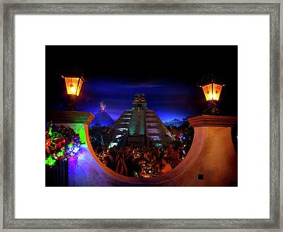 Mexico Pavilion At Epcot Framed Print by Mark Andrew Thomas