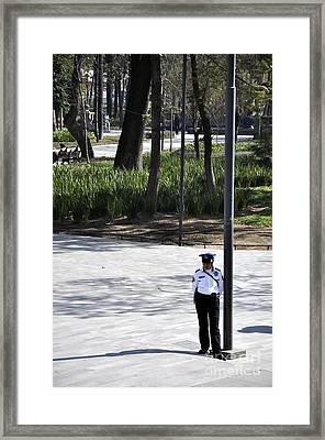 Mexico Policia Framed Print by Andrew Dinh
