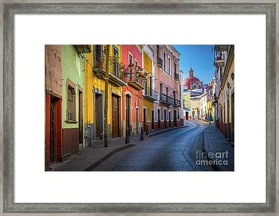 Mexico Street Framed Print by Inge Johnsson
