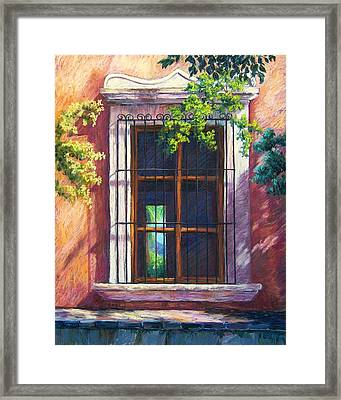 Mexico Window Framed Print by Candy Mayer