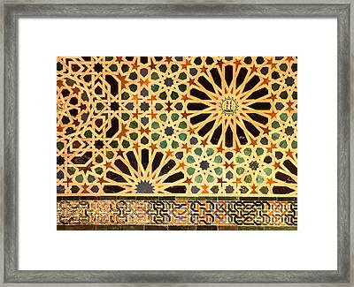 Mexuar Room Details Alhambra Palace Framed Print by Guido Montanes Castillo