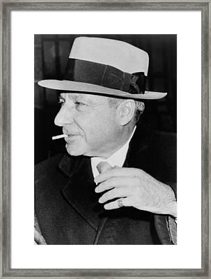 Meyer Lansky 1902-1983, Reached Framed Print by Everett