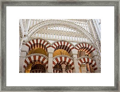 Mezquita Cathedral Architectural Details Framed Print by Artur Bogacki