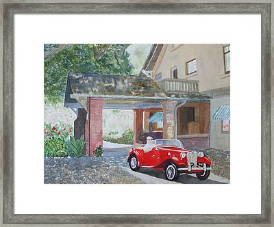 Mg At Marston House Framed Print by Ally Benbrook