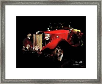 Mg Midget Roadster Framed Print by Wingsdomain Art and Photography
